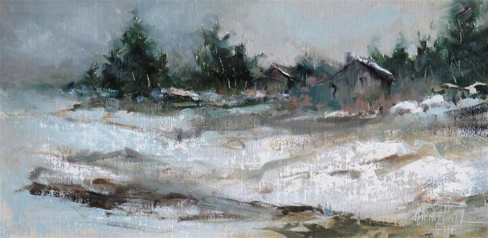 """Winter in the countryside"" original fine art by Christa Friedl"