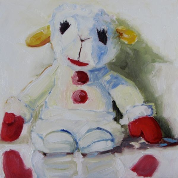 """My Little Lamb Chop"" original fine art by Mb Warner"