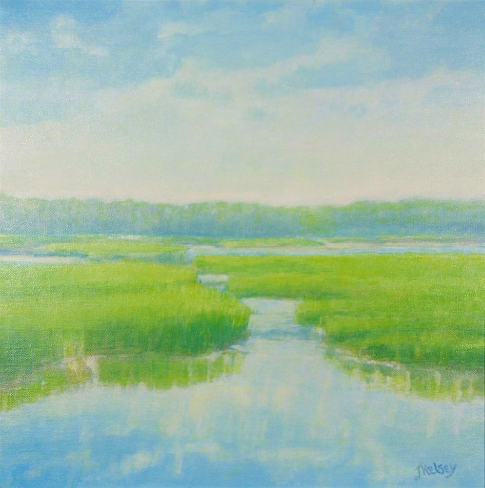 """Spring Marsh"" original fine art by J Kelsey"