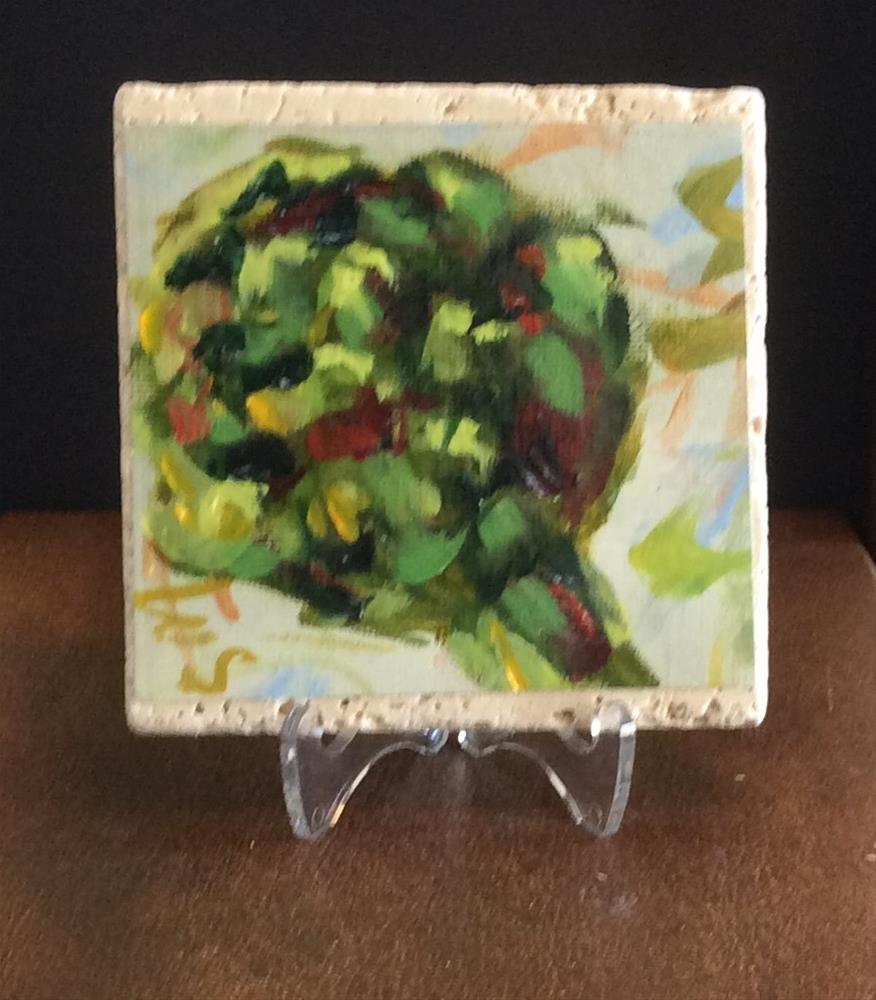 """Artichoke"" original fine art by Susie Monzingo"