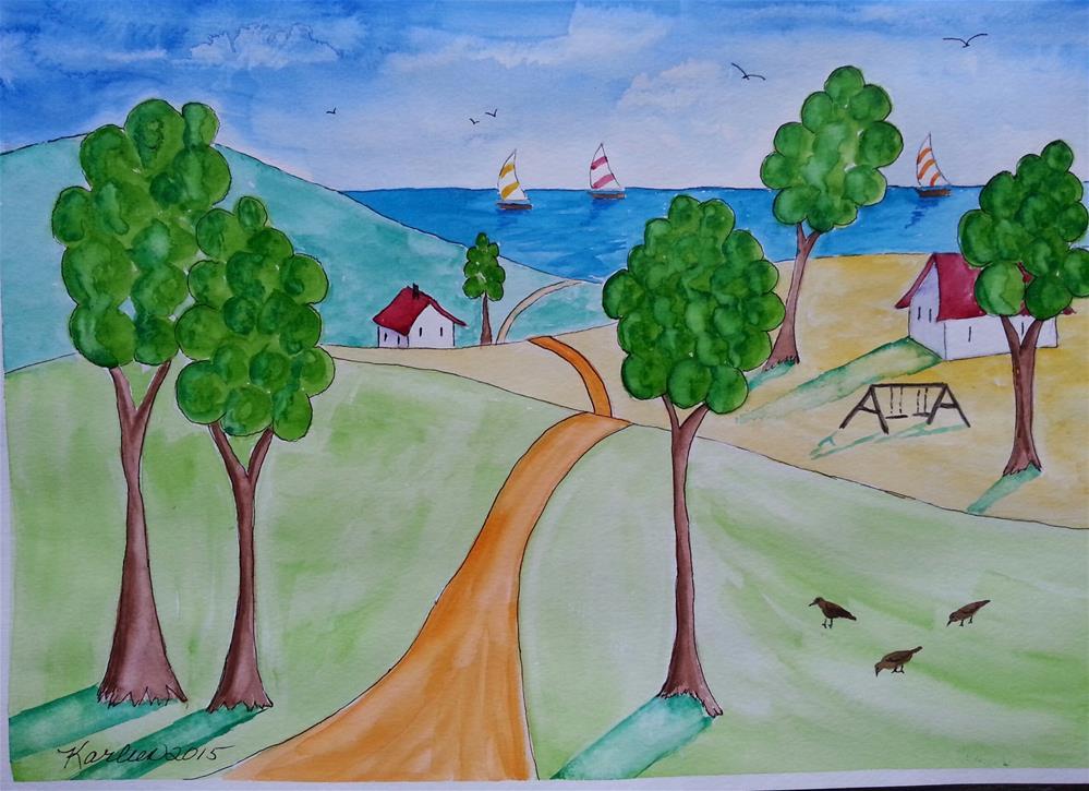 """The Road to the Ocean"" original fine art by Karleen Kareem"