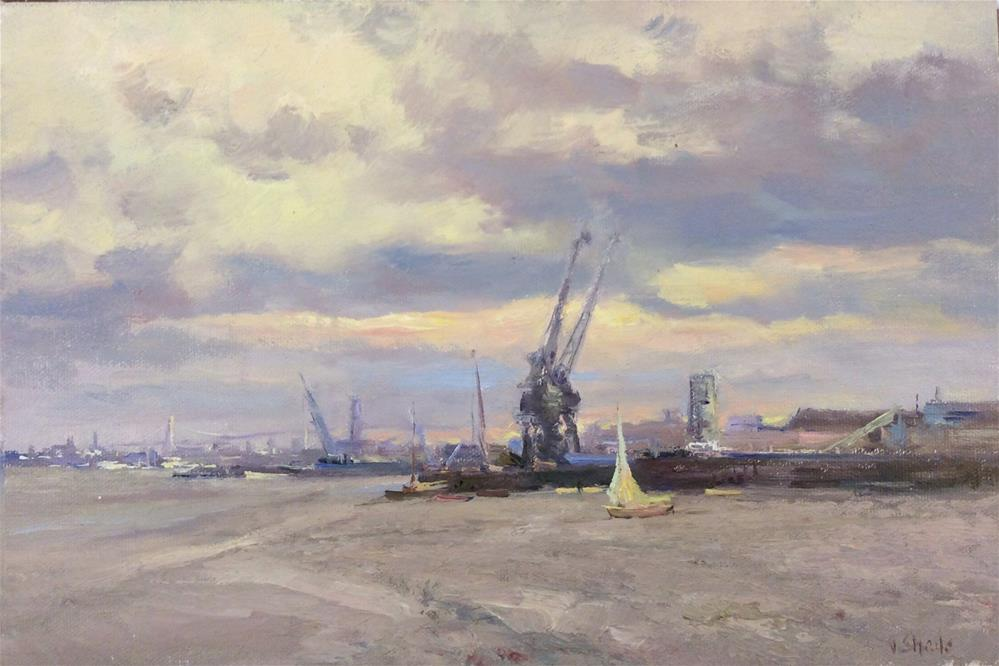 """The Industrial Thames"" original fine art by John Shave"