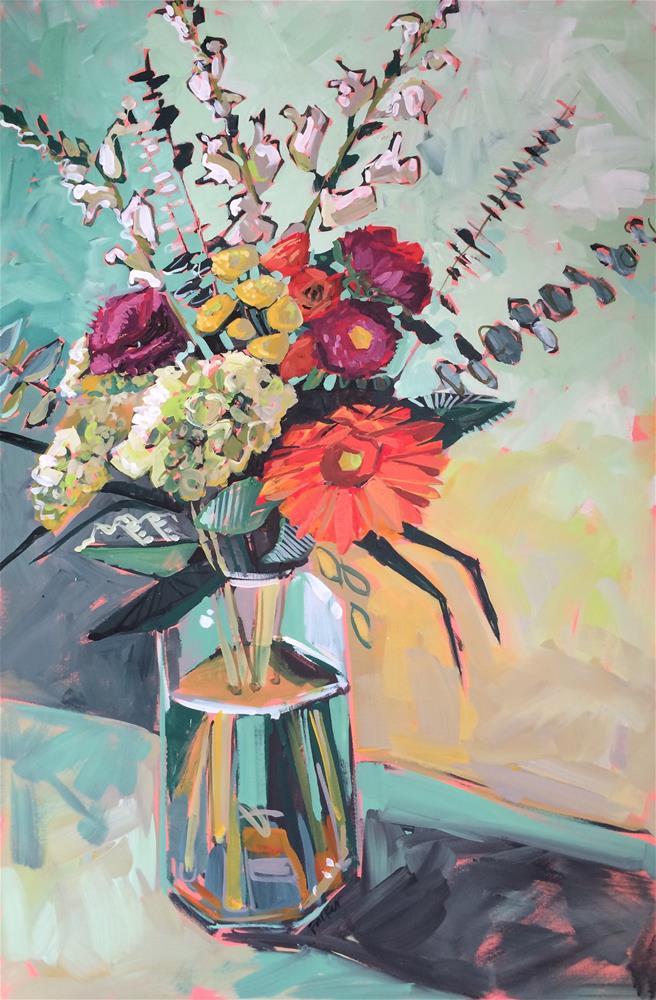"""Bouquet No.1"" original fine art by Teddi Parker"