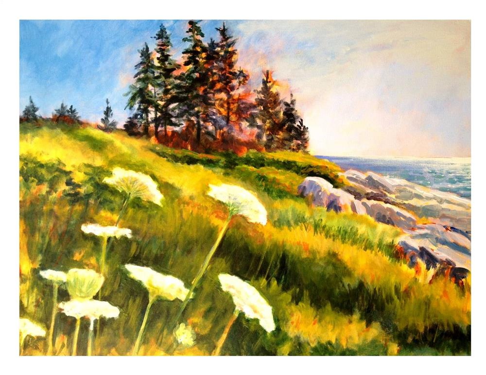 """""""On the Way to Monhegan"""" original fine art by Suzanne Woodward"""