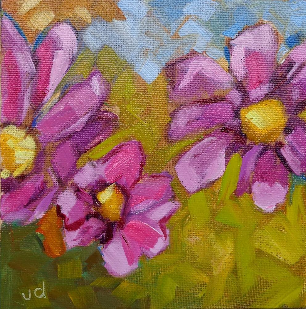 """""""Triple beauty"""" original fine art by Jean Delaney"""