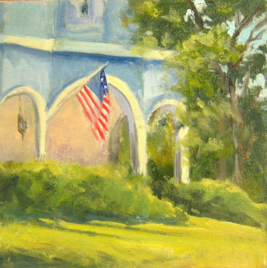 """Flag Day"" original fine art by Connie Snipes"