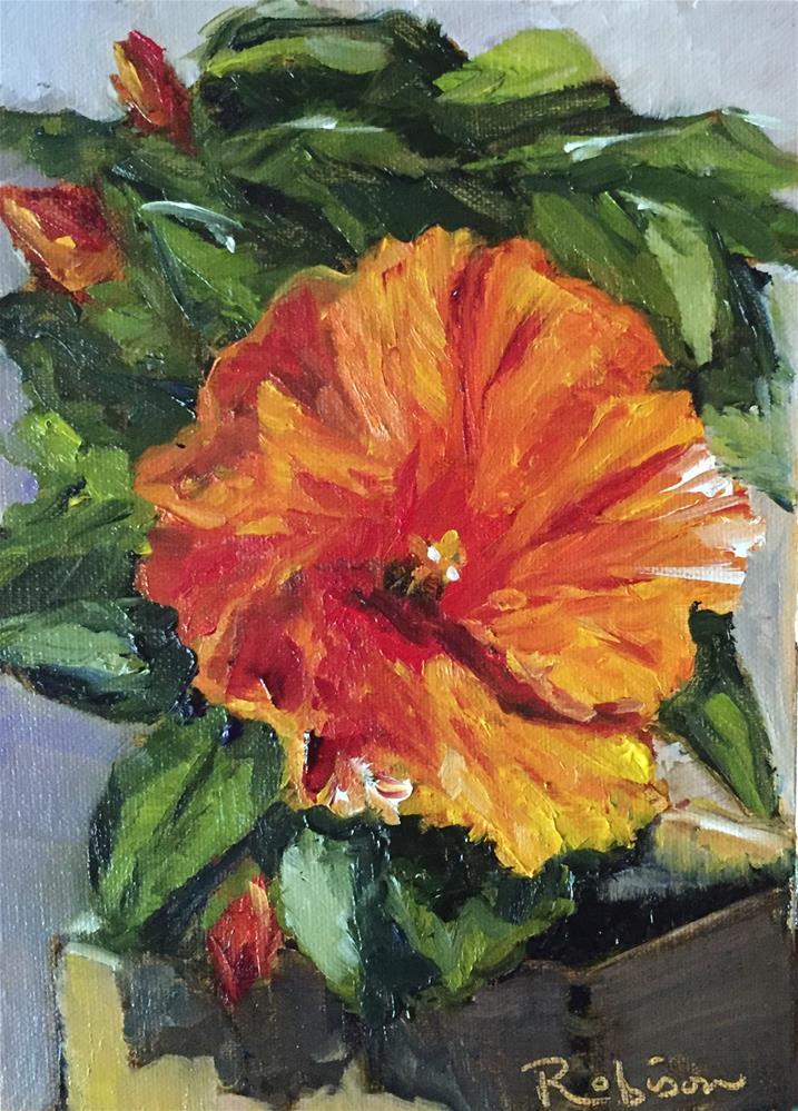 """Spello Hibiscus"" original fine art by Renee Robison"