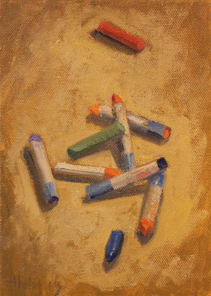 """Oil Pastel"" original fine art by Ski Holm"