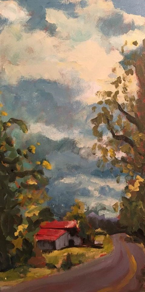 """Barn on Carters Creek"" original fine art by Susan Elizabeth Jones"
