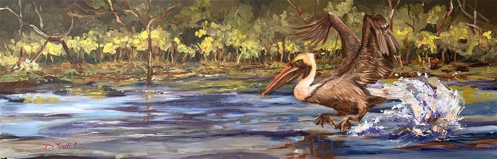 """""""Landing"""" original fine art by Diane Hutchinson"""