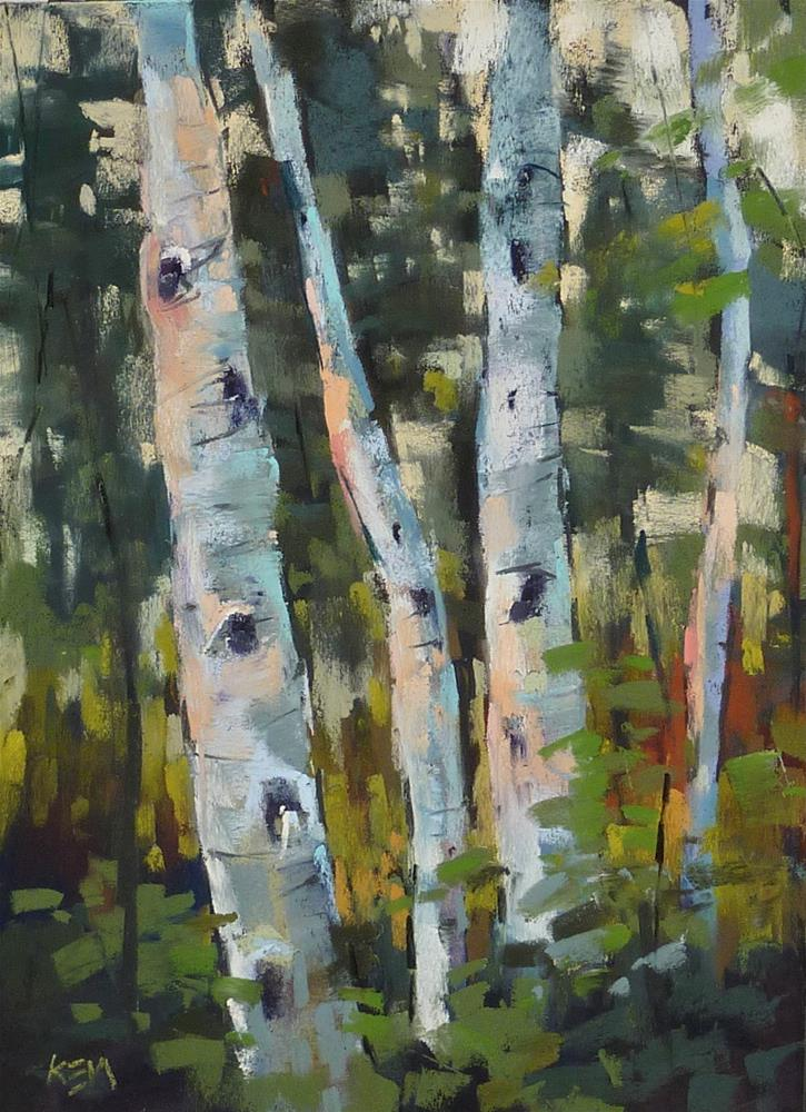 """The Joy of Painting on Black Paper!"" original fine art by Karen Margulis"