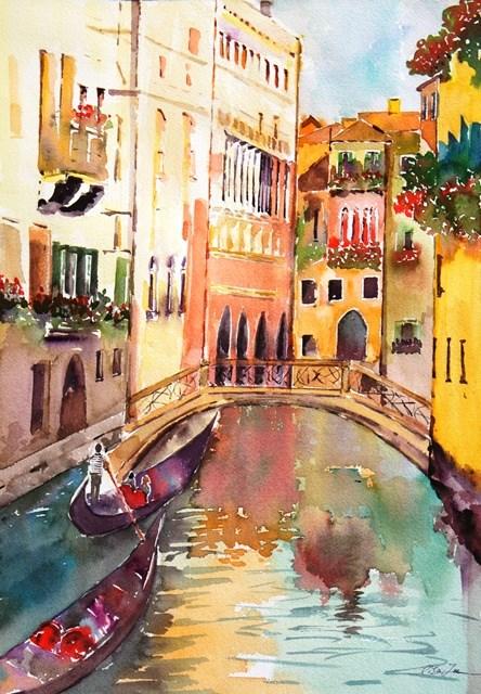 """""""Venice in love"""" original fine art by Lisa Fu"""