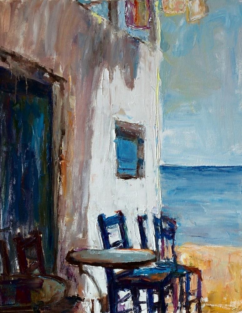 """Mediterranean Rhapsody  "" original fine art by pepa sand"