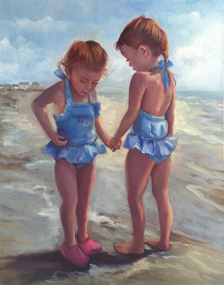 """""""Ruby and Mabel"""" original fine art by Linda Dunbar"""