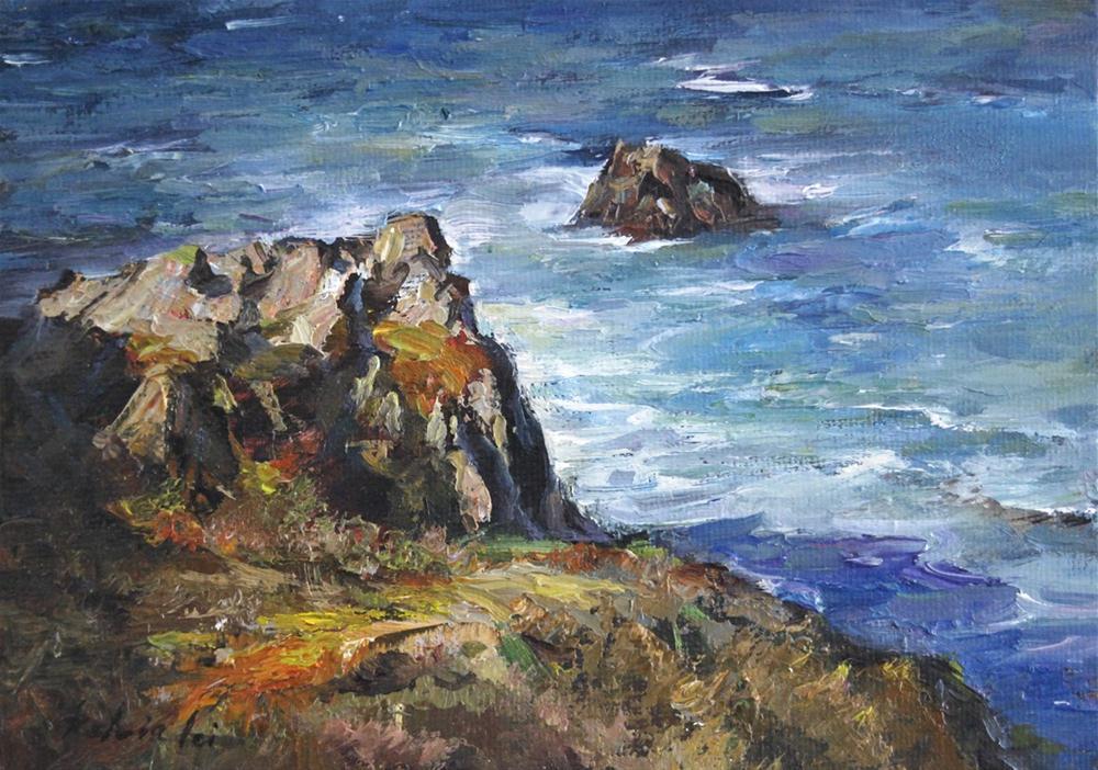 """""""Seaside Retreat"""" original fine art by Kelvin Lei"""