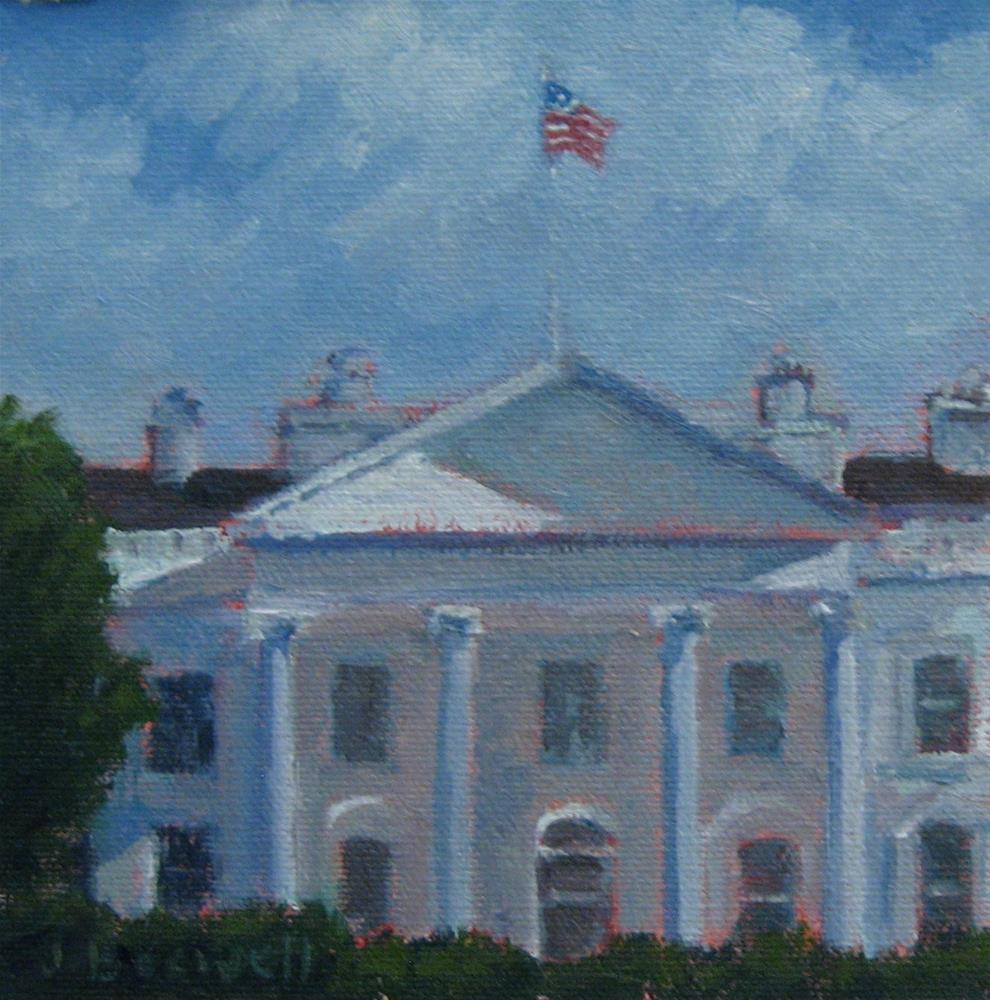 """The White House"" original fine art by Jennifer Boswell"