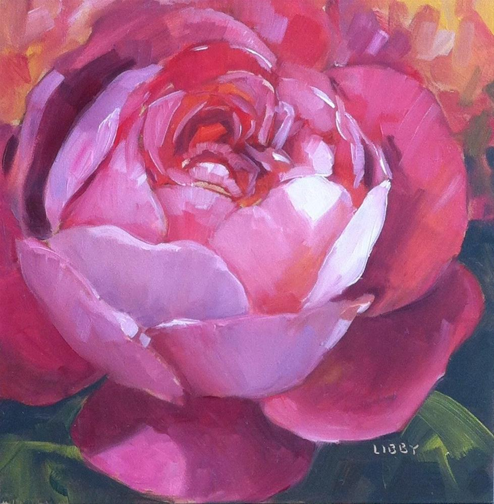 """""""Rose Alone"""" original fine art by Libby Anderson"""