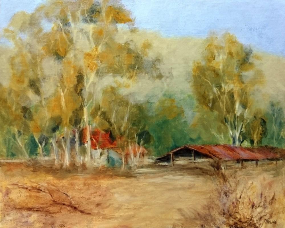 """Valley Of The Moon Ranch Plein Air"" original fine art by Dalan Wells"