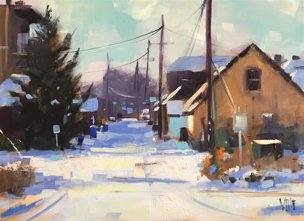 """Ramsey Hill Alley"" original fine art by Patty Voje"