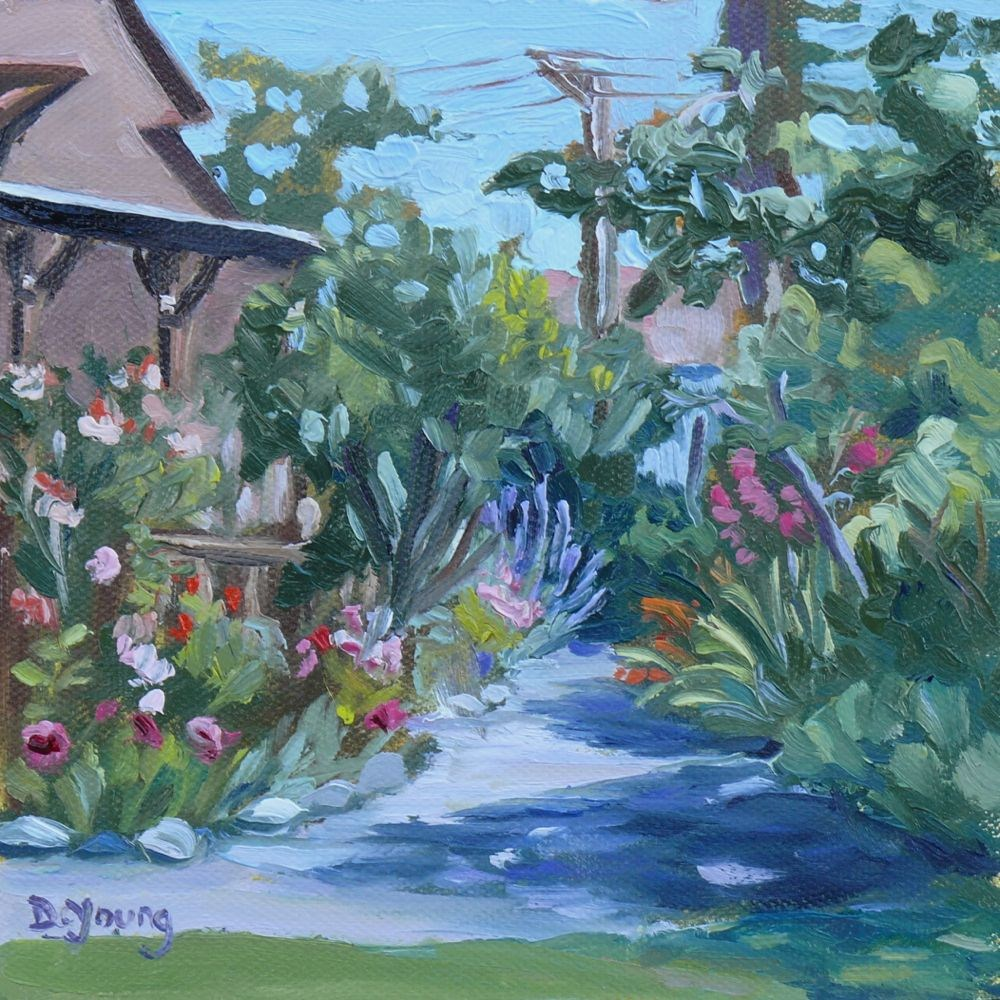 """Point Ellice House Garden"" original fine art by Darlene Young"