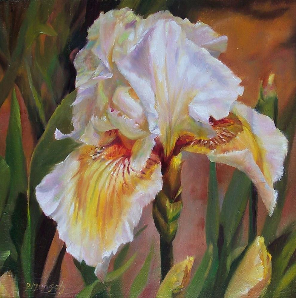 """""""Ruffled Iris"""" original fine art by Donna Munsch"""