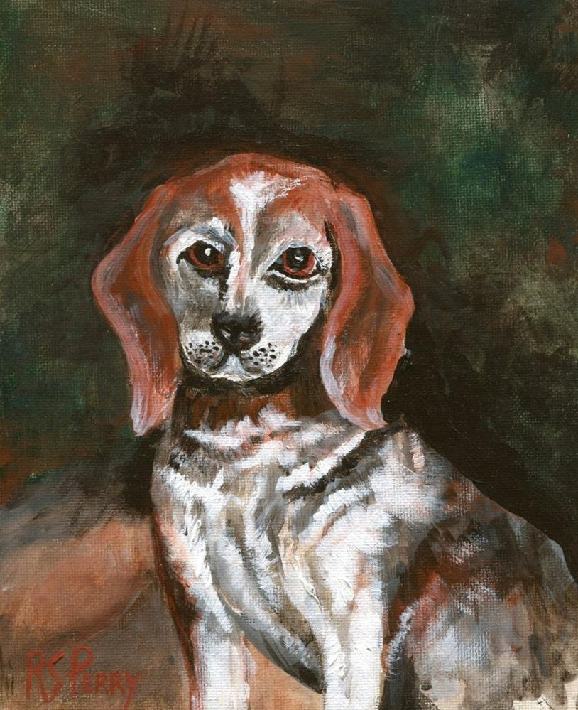 """Miss Beagle  (called Miss B)"" original fine art by R. S. Perry"