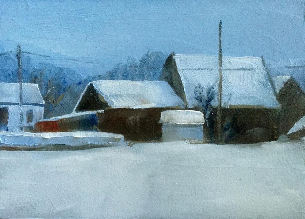"""Winter Day"" original fine art by Gary Bruton"