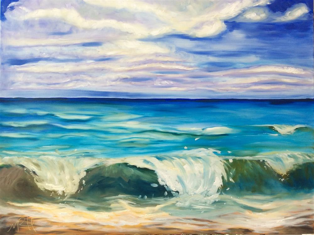 """""""Soothing Shore"""" original fine art by Molly Rohrscheib Hathaway"""