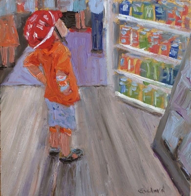 """So Many Choices"" original fine art by Shari Goddard Shambaugh"