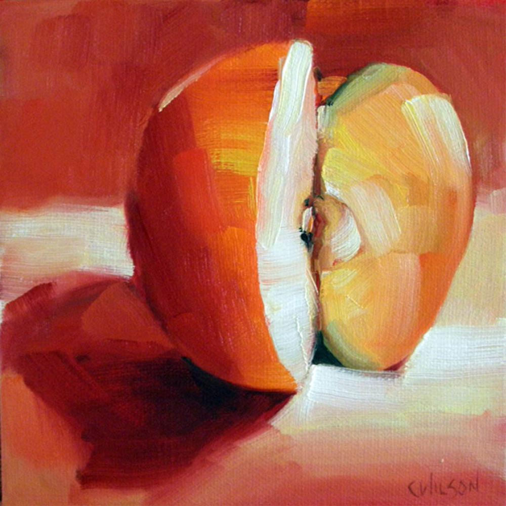 """Apple Edge"" original fine art by Cheryl Wilson"