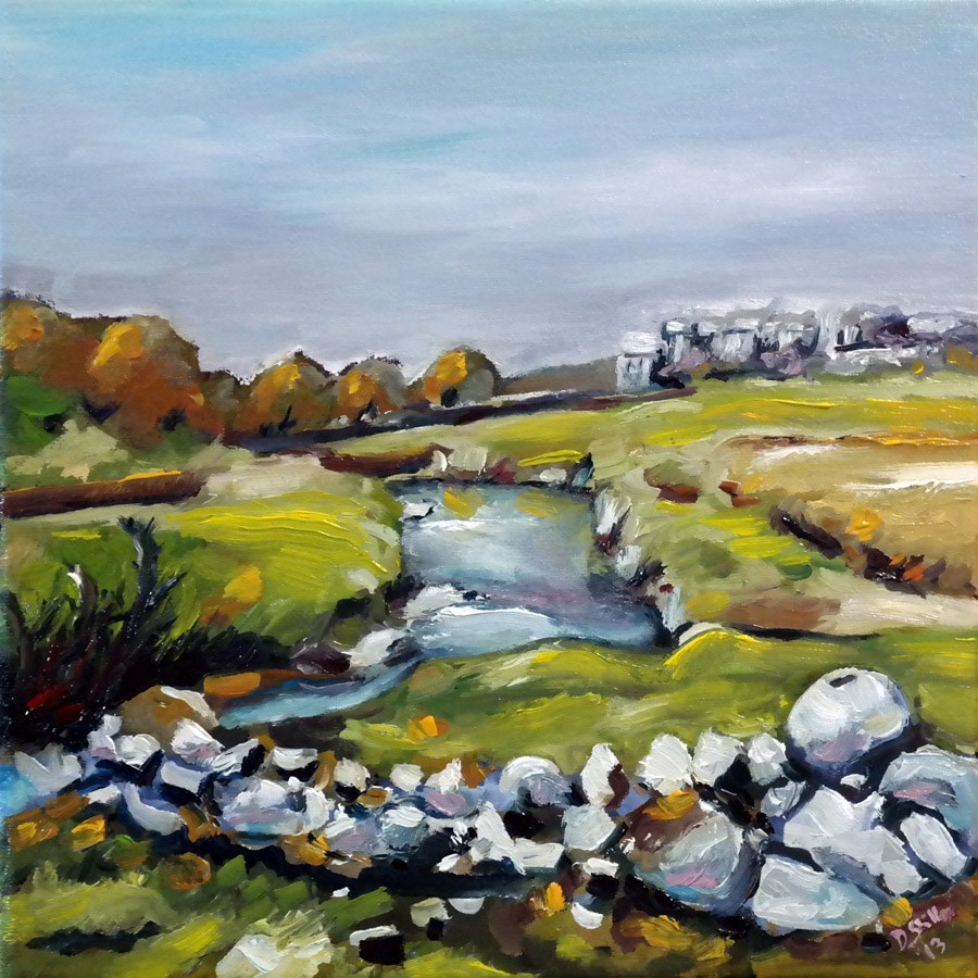 """0836 Near Skipton"" original fine art by Dietmar Stiller"