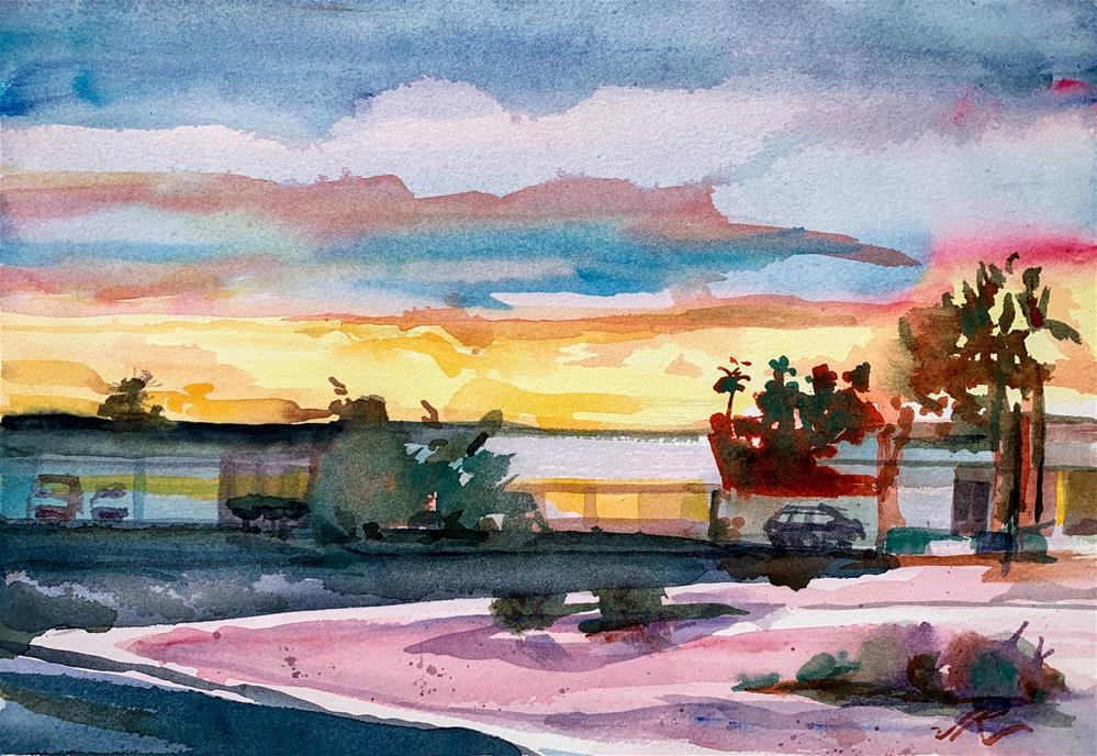 """Arizona Last Light"" original fine art by Jean Krueger"