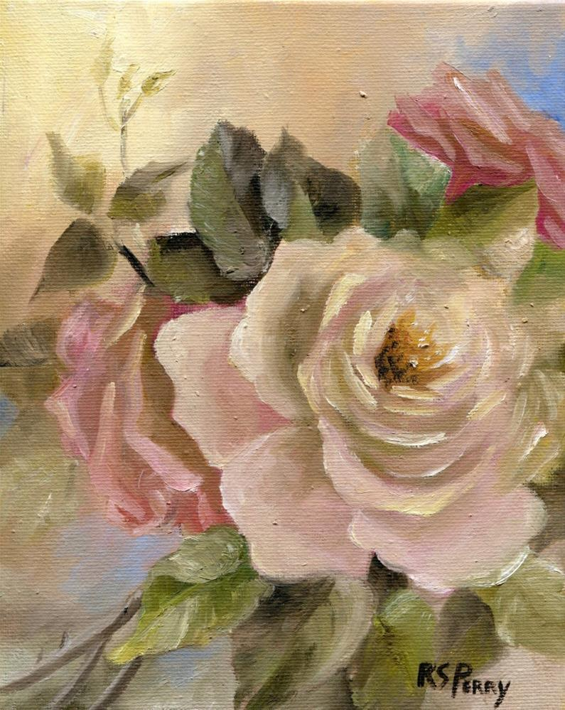 """Rose Arrangement"" original fine art by R. S. Perry"