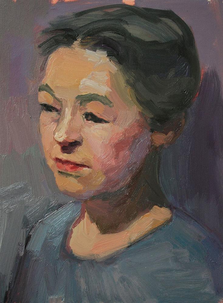 """Portrait Study #24"" original fine art by Kathryn Townsend"