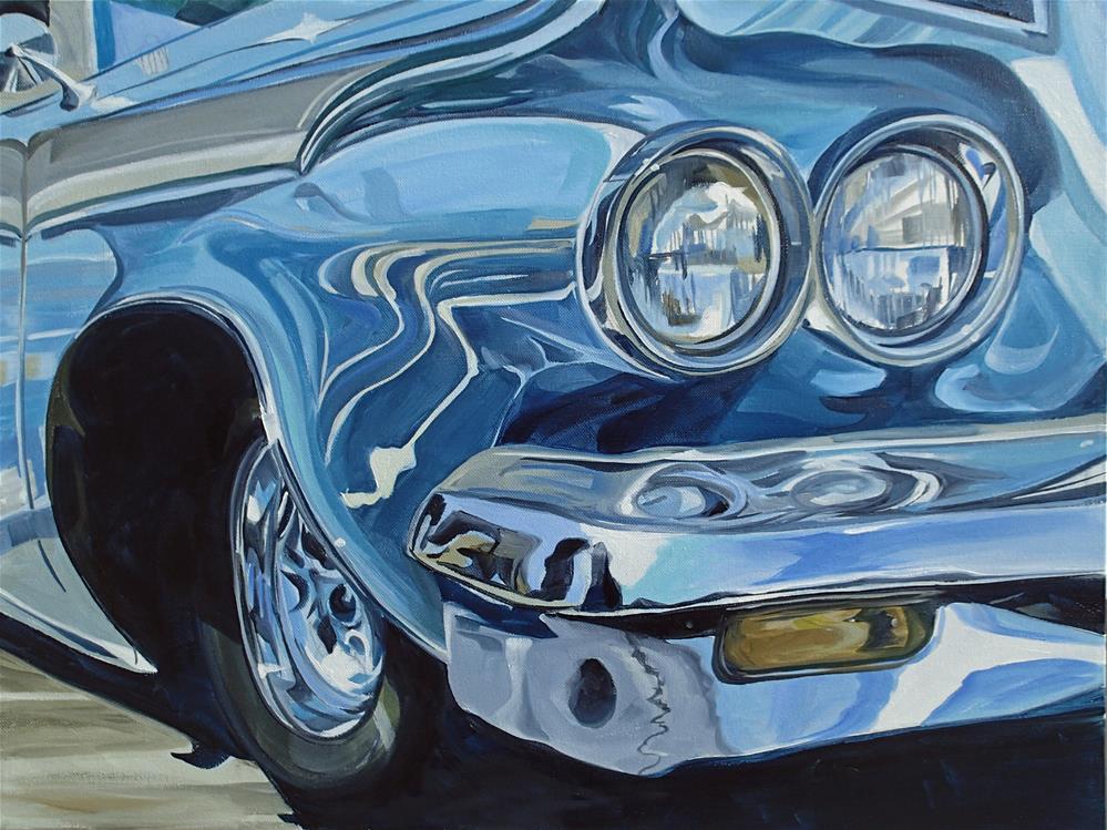 """Pontiac Catalina"" original fine art by Lauren Kuhn"