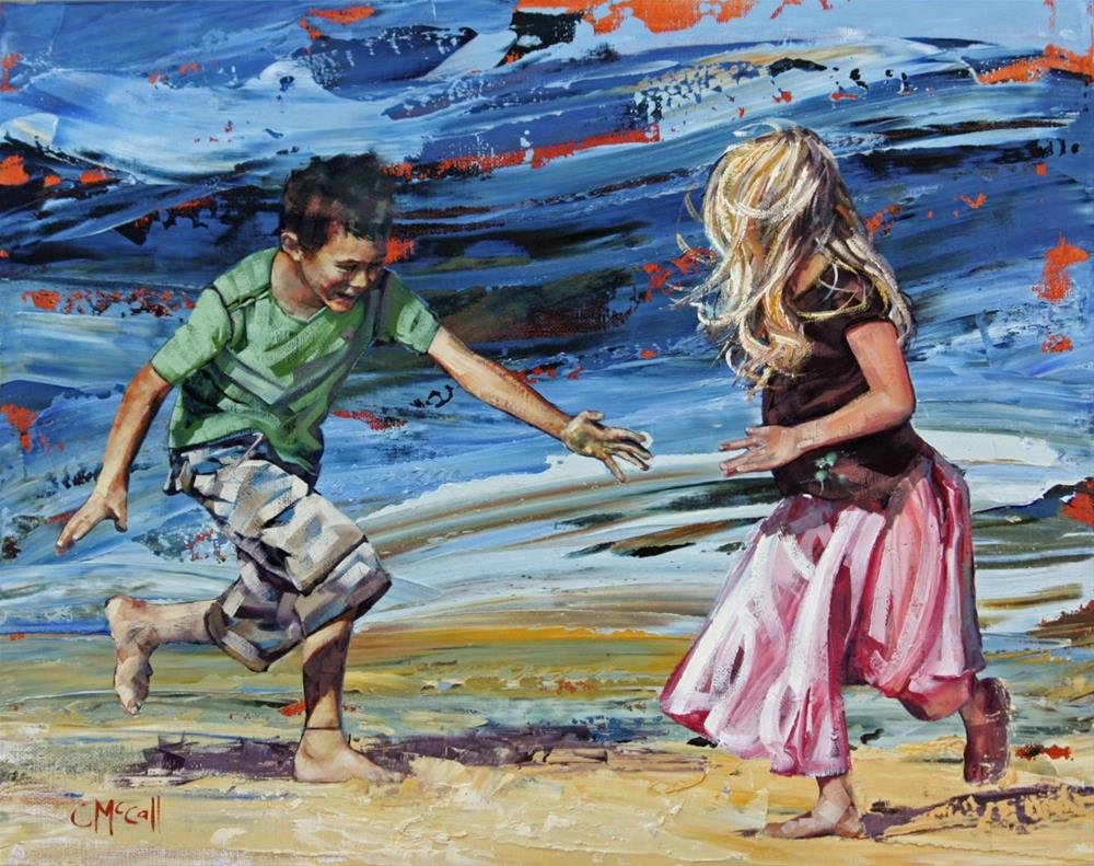 """""""Catch Me If You Can"""" original fine art by Claire McCall"""