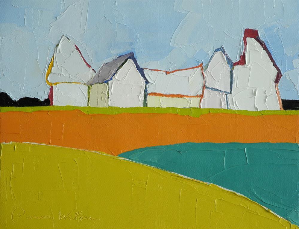 """Line of Green"" original fine art by Donna Walker"