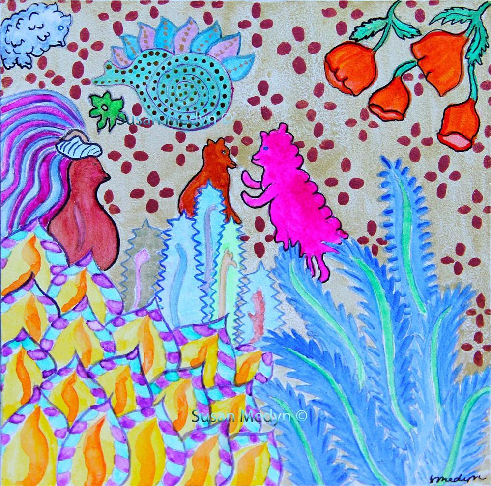 """""""She's Glowing"""" original fine art by Susan Medyn"""