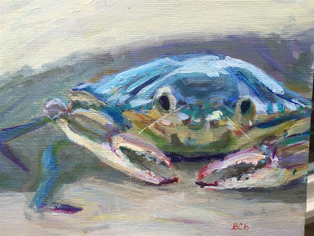 """Feeling Crabby"" original fine art by Beth Carrington Brown"