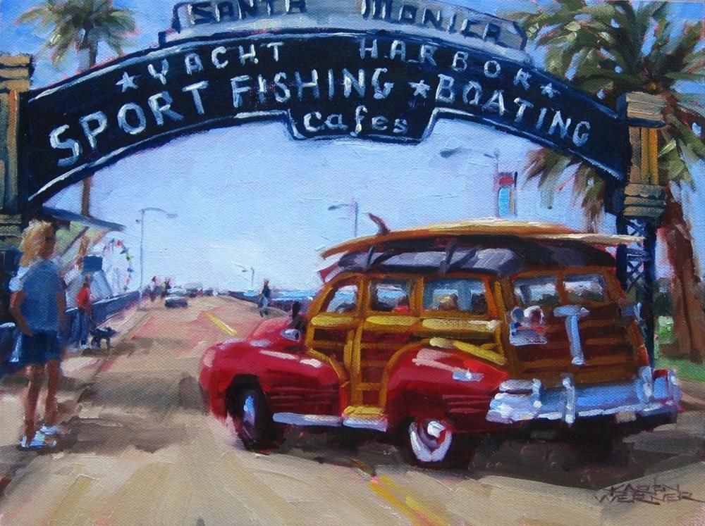 """""""Santa Monica Pier"""" original fine art by Karen Werner"""