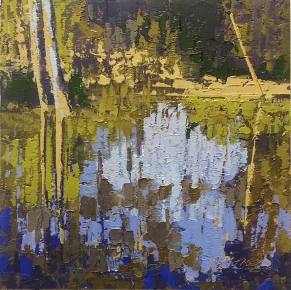 """Cedar Creek, Flood"" original fine art by Mary Gilkerson"