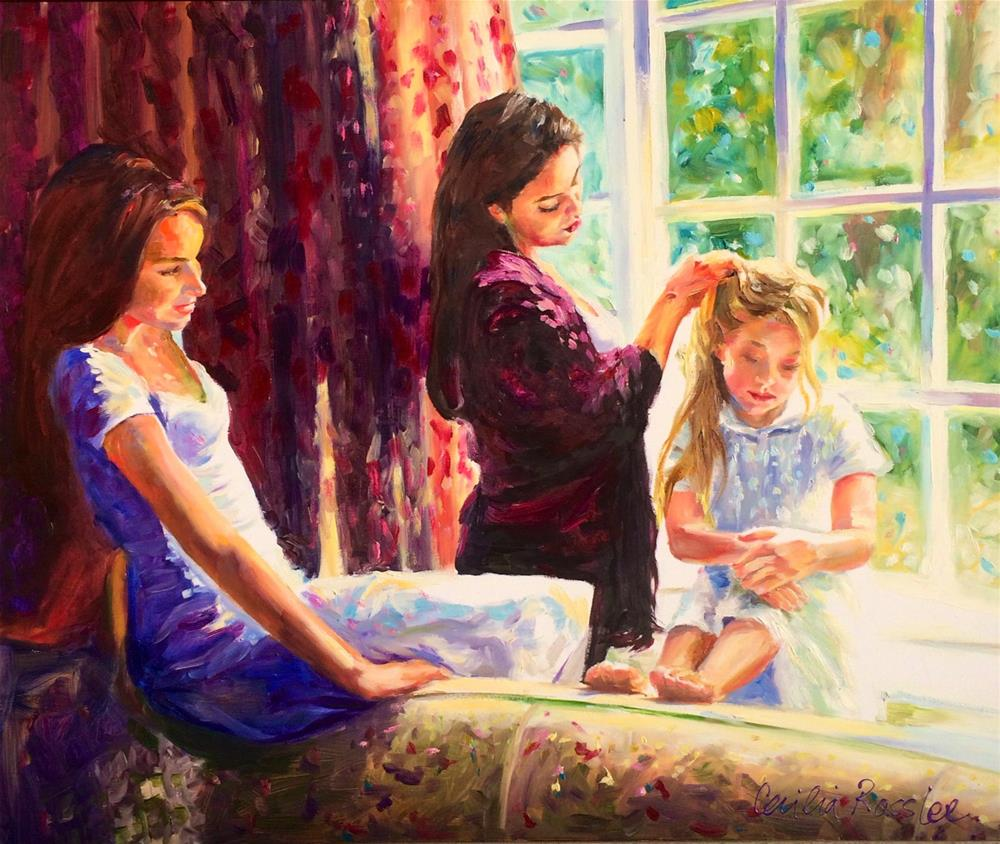 """AT THE WINDOWSILL"" original fine art by Cecilia Rosslee"