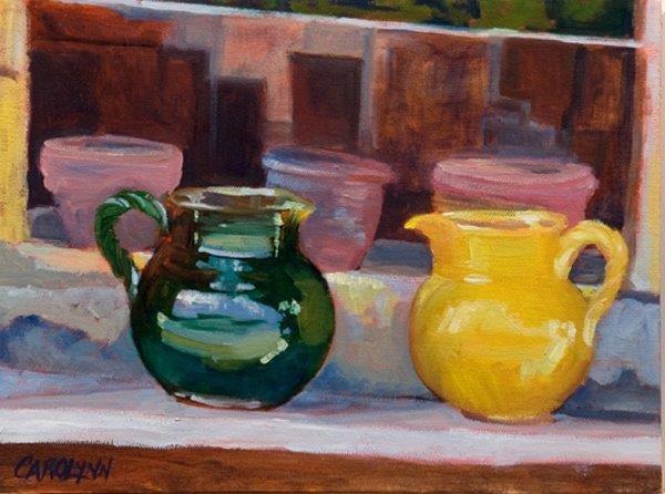 """""""Roussillon Pots"""" original fine art by Carolynn Doan"""