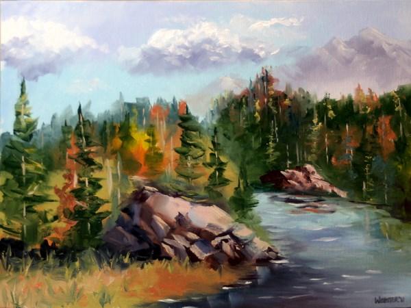 """""""Mark Adam Webster - Forest River Landscape Oil Painting"""" original fine art by Mark Webster"""