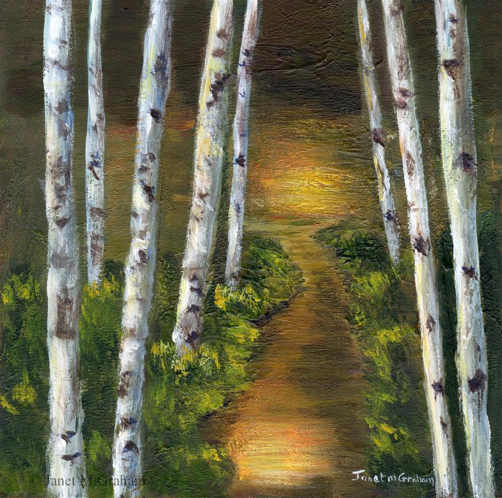 """Sunlit Forest"" original fine art by Janet Graham"