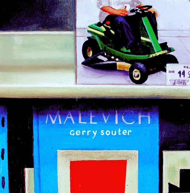 """""""Malevich Books- Painting Of Books On Artists Duane Hanson And Malevich"""" original fine art by Gerard Boersma"""