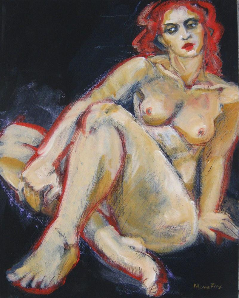 """""""Nude figure study painting of woman, figurative painter, contemporary realism, classic nude"""" original fine art by Marie Fox"""