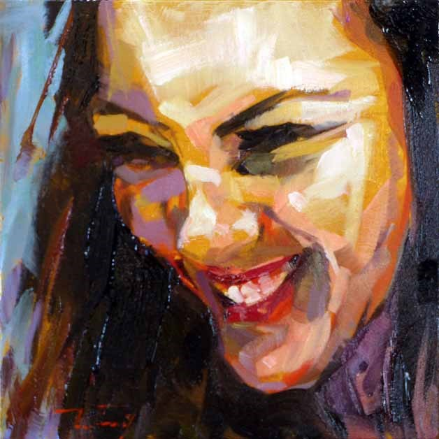 """""""Unknown beauty"""" original fine art by Jurij Frey"""