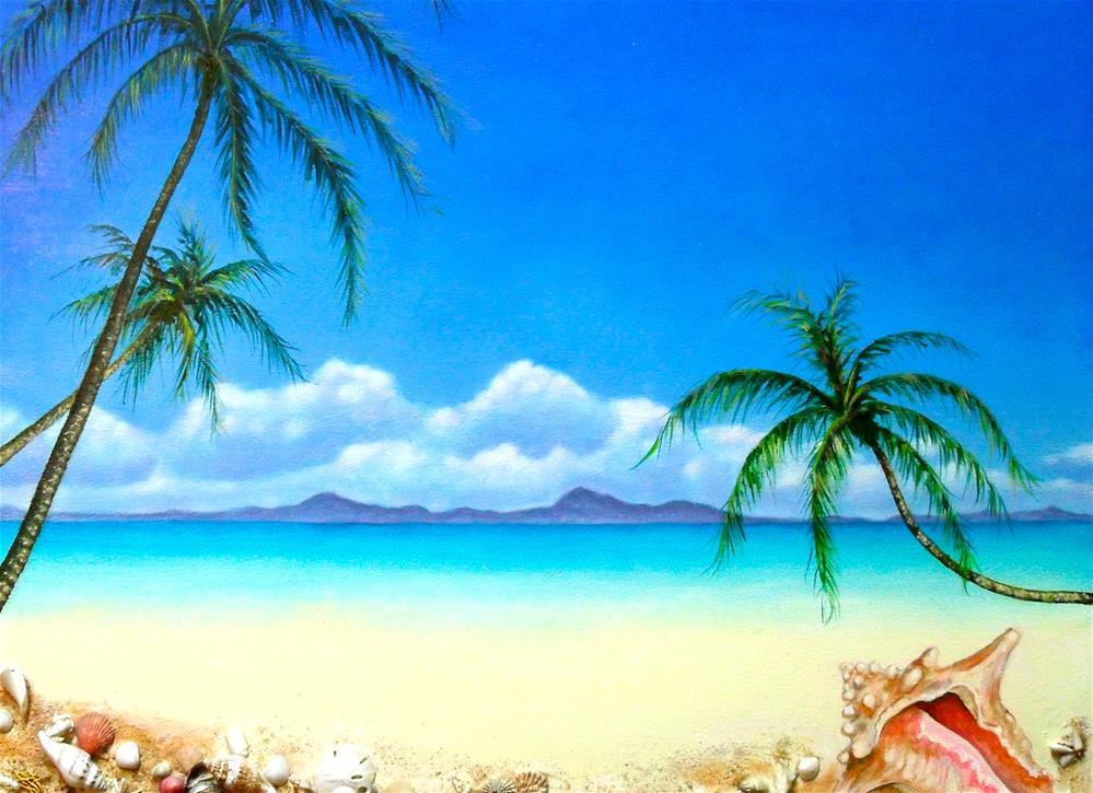 """""""Beach Treasures"""" original fine art by Karen Roncari"""