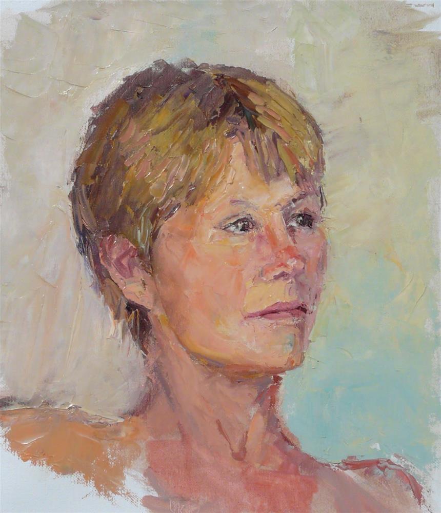 """Ros,portrait,oil on canvas,14x12,priceNFS"" original fine art by Joy Olney"